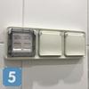 Установка блока влагозащищенных розеток в помещении с влажной средой