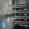 Укладка кабелей СКС в шкафу, подключение патч-панелей