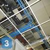 Прокладка кабелей СКС на заземленных проволочных лотках
