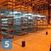 Установка столбиков с розетками на складе