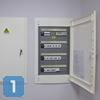 Установка встроенных электрощитов в офисе